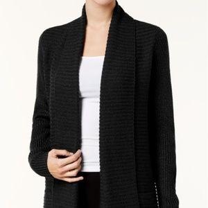 Karen Scott women's Textured Open-Front Cardigan